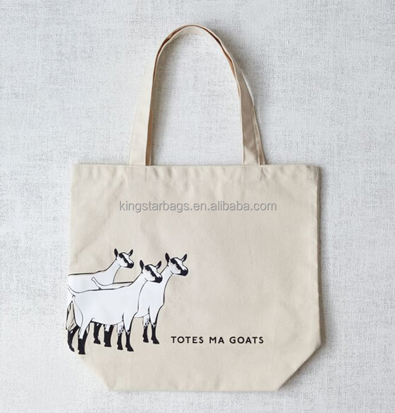 Personalized Totes Ma Goats Plain White Cotton Bag For Gift