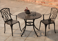 Bistro set cast aluminum garden table and chair,cast aluminum dining set