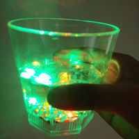 9oZ the liquids activated PS plastic wine glass with blinking light up plastic led