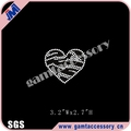 Wholesale rhinestone transfer applique with Heart Shape for t shirt and dress