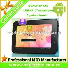 Boxchip A13 Android 4.0 mid tablet pc manual