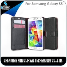 Wallet Pouch Leather PU Mobile Phone Case, Mobile Housing, Sublimation Mobile Housing for Samsung Galaxy s5