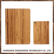High quality eco-friendly natural wood phone case leather case for ipad