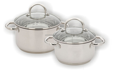Happy lady 4pcs stainless steel casseroles cookware set ss hollow handle water scale mark inner available MSF-3150