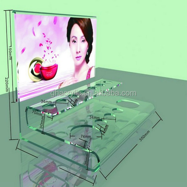 acrylic customized cosmetic box of display racks