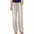 Casual waist strap tie linen wide leg pants for women