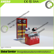 High end retail cell phone display accessories kiosk