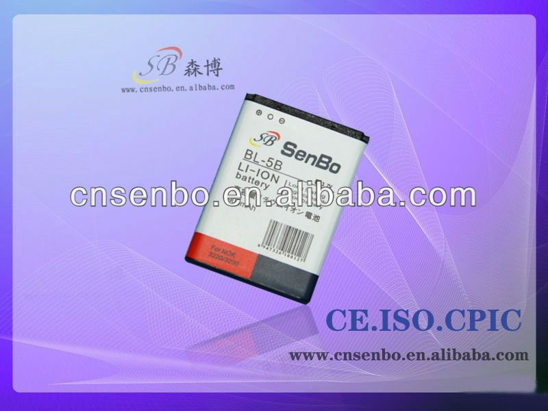 Latest design cell phone batteries for Nokia 850 mAh