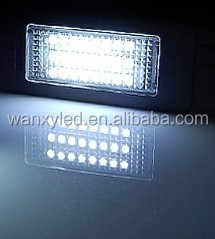 Car lights led the lamp of license plate light for bmw E38 E39 E46 LED number plate lamp tractor