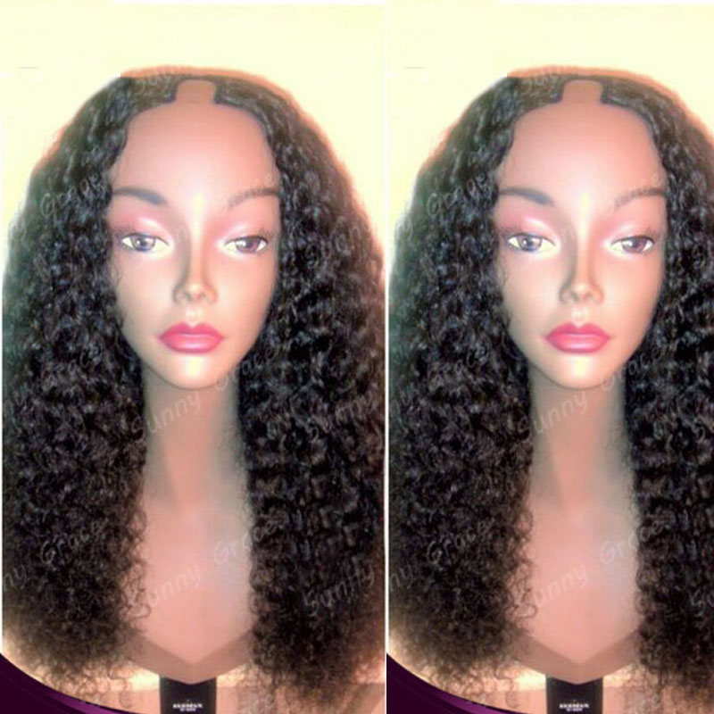 "Best selling Unprocessed <strong>20</strong>"" #1b 100% virgin hair Brazilian full lace kinky curly afro kinky <strong>u</strong> part wig for black women"