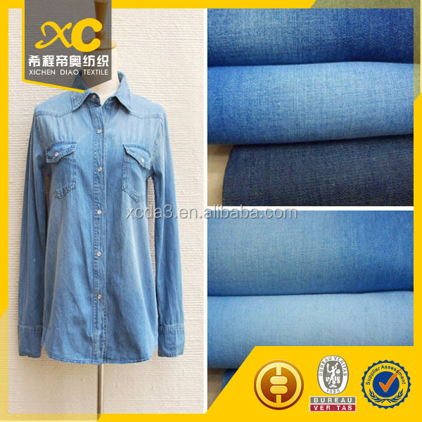raw denim fabric materials for shirt
