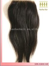 natural color straight 4x4 swiss lace free parting bleached knots light brown lace closure