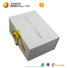 promotion high quality fashion white hot stamping underware flat packaging box