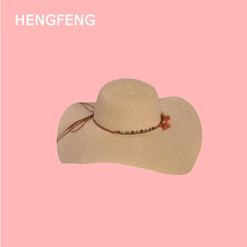 Wholesale New Style Summer foldable straw hats