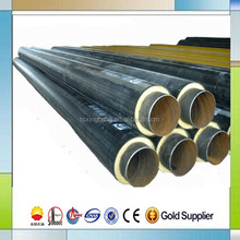high quality heat insulation pre insulated steel pipe pu foam filling and hdpe casing chilled water insulated pipe