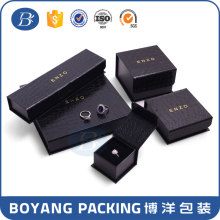 wholesale custom logo printed folding jewelry boxes