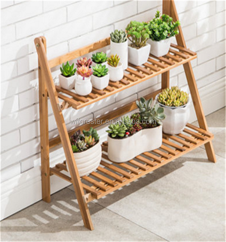 customized eco-friendly cheap wooden flower pot stand