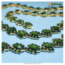 beautiful green color rhinestone with great price for elegant dress