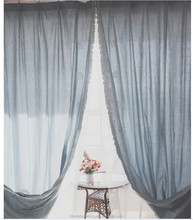 Romantic High Quality Double Layer Blackout Curtain For Home Hotel