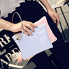 CB053 Nice simple shopping clutch wallet large capacity zipper bag
