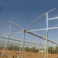 Plastic film cover fixed greenhouse used for agriculture