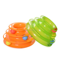 Super Fun 3-Level Tower Ball of Tracks Endless Interactive Anti-Slip Cat Toy Tower