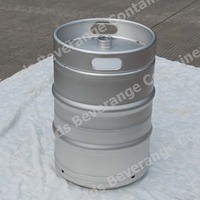US 58.7 ltr commercial keg 1/2 bbl stainless steel beer keg with American sankey