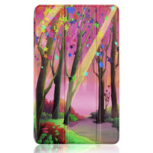 Lucky Tree printing case for Kindle New Fire 7 2015 Slim Case PU Leather Magnetic Cover