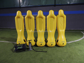 Air soccer dummy for training goalkeeper and free kick