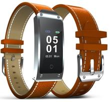 Newest Color Screen Smart Bracelet With Blood Pressure And Heart Rate Monitor Leather Wristband NRF 52832 Chip