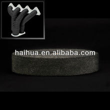 black exhaust insulating heat wrap