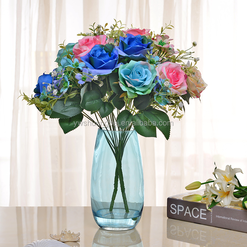 Promotion Oval Shape Glass Vse,Household Colored Glass Vase For Decoration