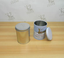 Blank or printed round metal tin box can coffee / tea / container
