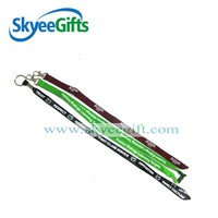 Custom design flat polyester custom printed lanyards no minimum order