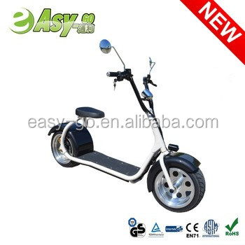 Newest popular Harley style fashion 800w/1000w electric motorcycle sidecar for adults citycoco electric scooter