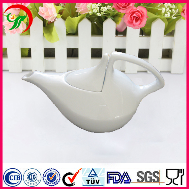make in china overglaze technology water cooler white ceramic tea pot