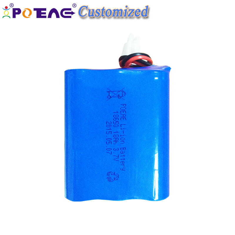 golden quality 18650 3.7v 18000mah li-ion battery pack for spotlight
