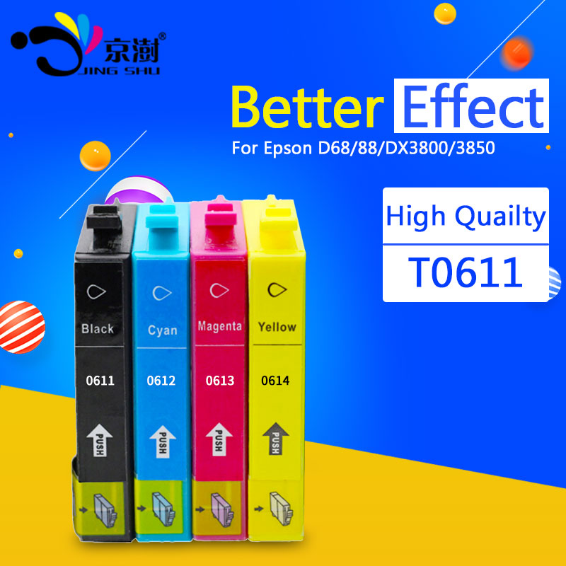 Compatible ink cartridge T0611 T0612 T0613 T0614 for Epson stylus D68 88 DX3800 3850 4200 4250 4800 4850