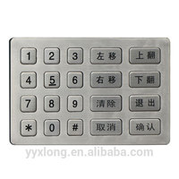 Professional compact numeric keypad rfid door keypad metal standalone single door access controller