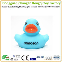 Light blue duck wholesale baby toy birthday gift print your name