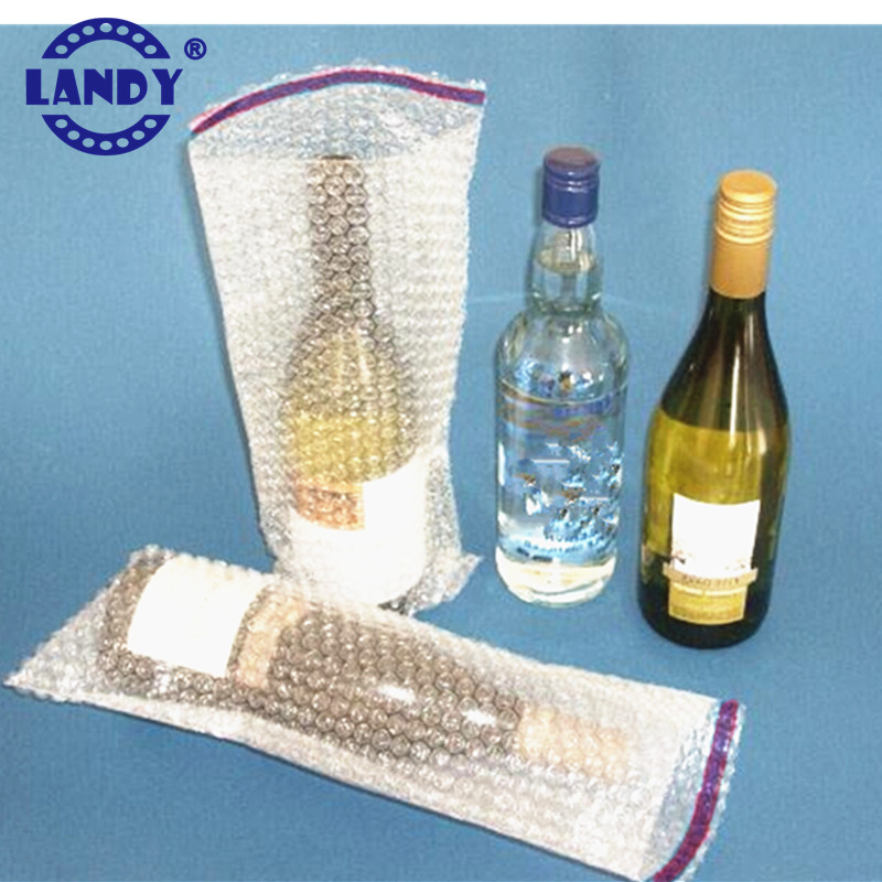 Custom size wine packing bubble bottle bags pe bubble bags for bottle