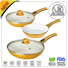 3 PCS Forged Aluminum Nonstick Ceramic Coating Removable Handle Frying Pan