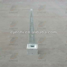 galvanized square post anchor for support metal fence post
