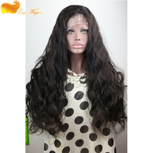 Top Quality 7A Unprocessed Brazilian Wholesale Body Wave Lace Front 100 Human Hair Wig 24 inch