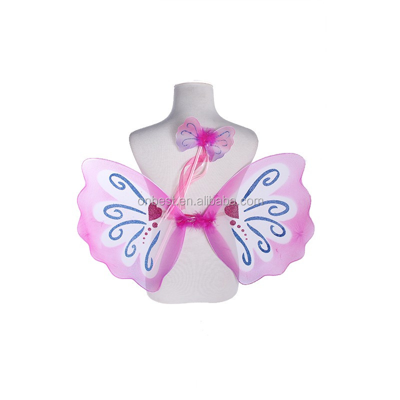 Promotional costume wings for sale butterfly wing with magic wand for sale fairy wing set