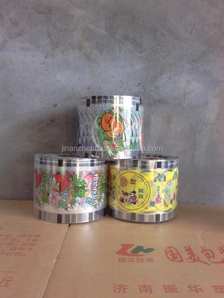 plastic film roll food grade pudding cup sealing film
