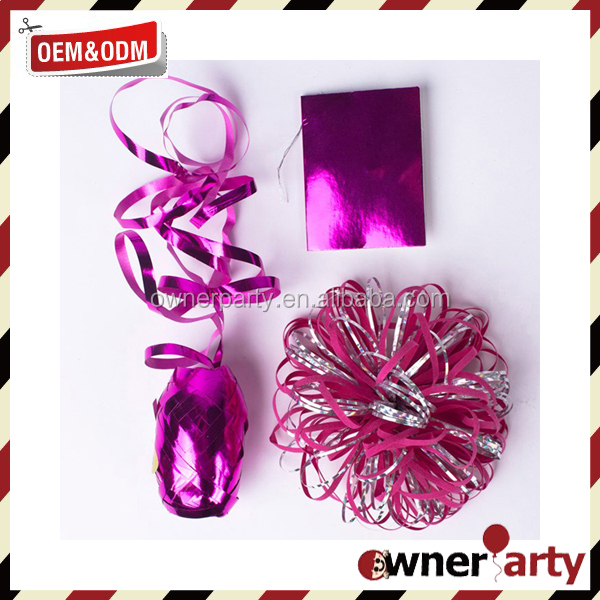 Wholesale Customized Party Decoration,Gift Packing Handmade PP Pull Ribbon Bow