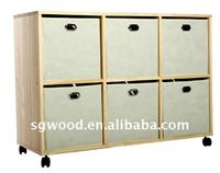 New design FSC office six drawers Wooden Storage Cabinet