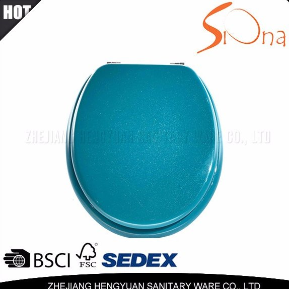 Custom made soft close toilet seat cover for bathroom