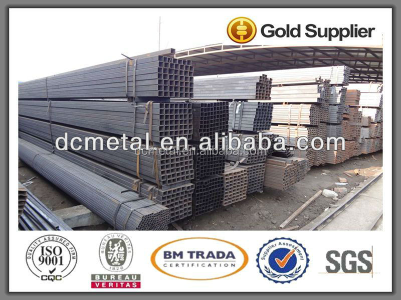 Building material Q195/Q215 erw welded pre galvanized square structure steel pipe/tube